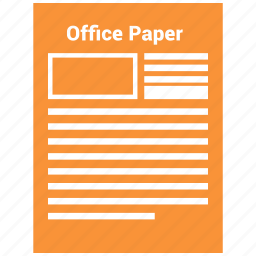 config, configuration, gear, office paper, paper, setting icon