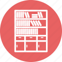almirah, almirh, book, data, server icon