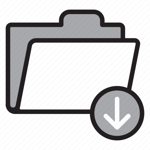archive, download, folder, open, save, storage icon