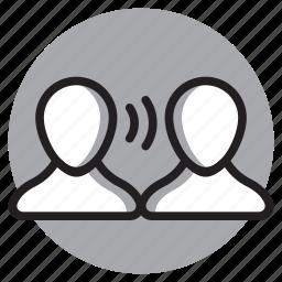 chat, communication, conversation, interview, speak, talk icon