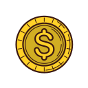 business, coin, currency, graphic, line, money, set icon