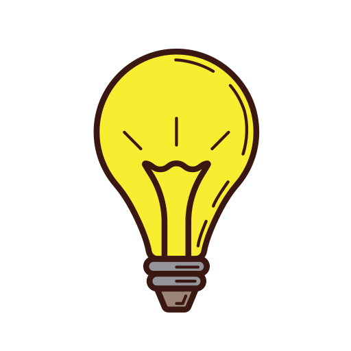 business, graphic, idea, lamp, opinion, set, strategy icon