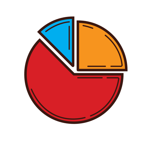 analysis, business, chart, graphic, percentage, set, strategy icon