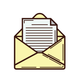 business, letter, line, mail, message, note, set icon