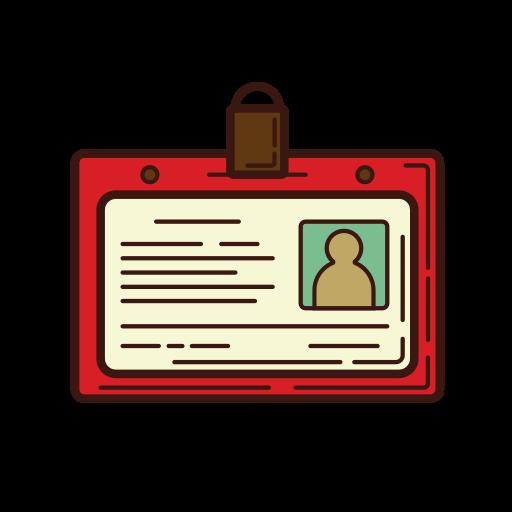 business, graphic, identity, line, nametag, profile, set icon