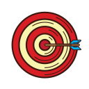 accuracy, analysis, business, graphic, set, strategy, target icon