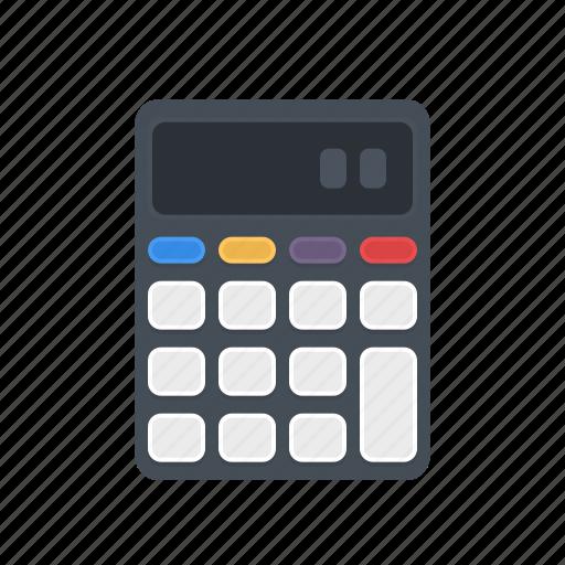 calc, calculate, calculator, math, office, school, study icon