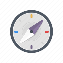 arrow, compass, course, direction, location, navigation, travel icon