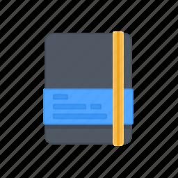 agenda, book, diary, document, moleskine, note, schedule icon