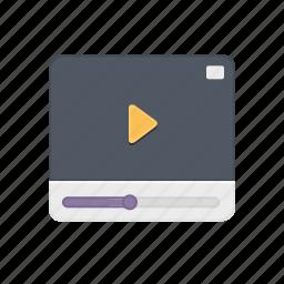 clip, film, movie, multimedia, player, stream, video icon