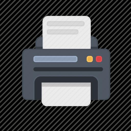 device, office, paper, print, printer, printing, work icon