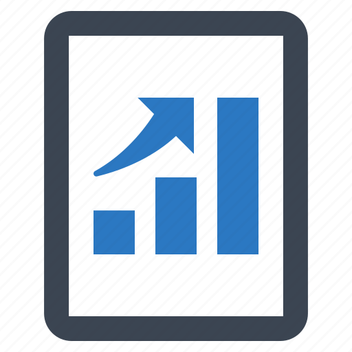analytics, business growth, graph, profit icon