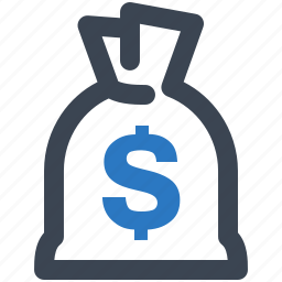 fees, finance, investment, loan, money bag icon