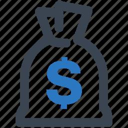 fees, finance, loan, money bag icon