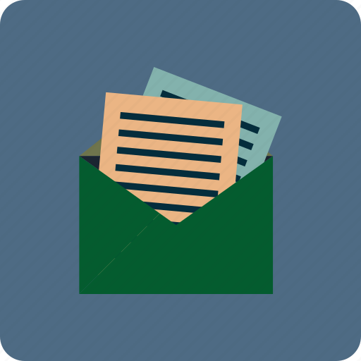 account, e-mail, letter, mail, message, note, report icon