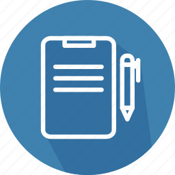 business, contract, document, paper, pen, pencil, signing icon