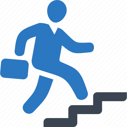 Business success, businessman, running, stairs icon | Icon ...