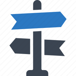 direction sign, indication sign, road sign icon