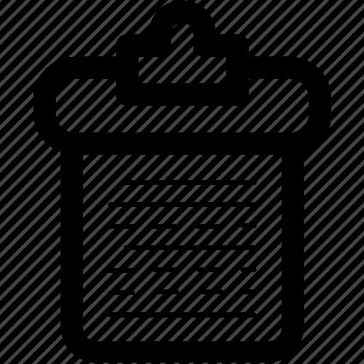 clipboard, data, document, organizer, paper icon