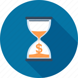 clock, hourglass, management, money, sandglass, time, timer icon