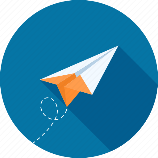 communication, freelance, message, origami, paper, plane, startup icon