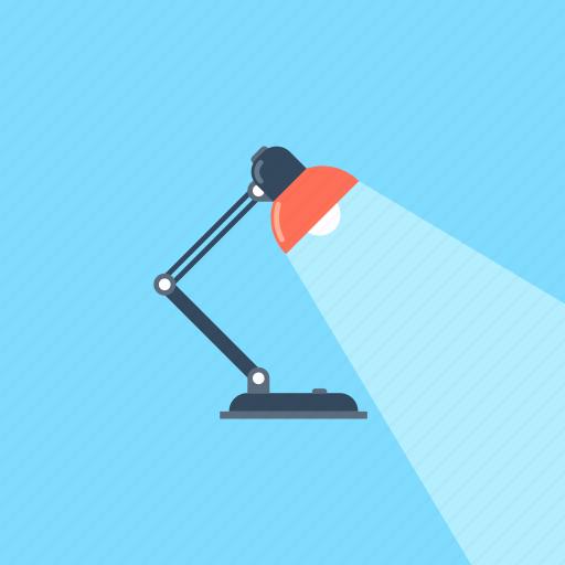 bulb, desk, lamp, light, office, overtime, work icon