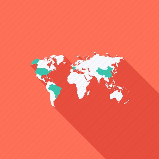 business, communication, earth, global, international, map, world icon