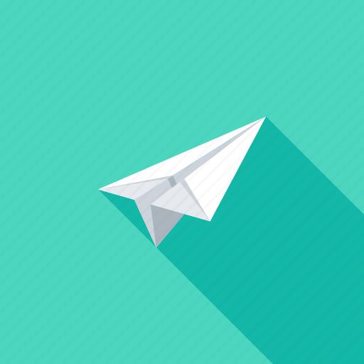 communication, freelance, message, origami, paper, plane, startup icon