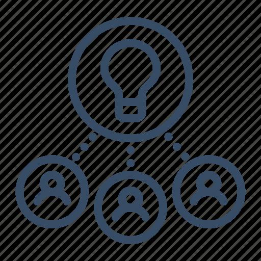 collaboration, collaborative idea, cooperation, development, idea, innovation, interaction icon