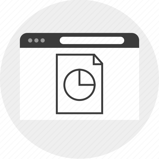 browser, business, chart, data, report icon