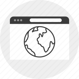 browser, business, earth, world icon