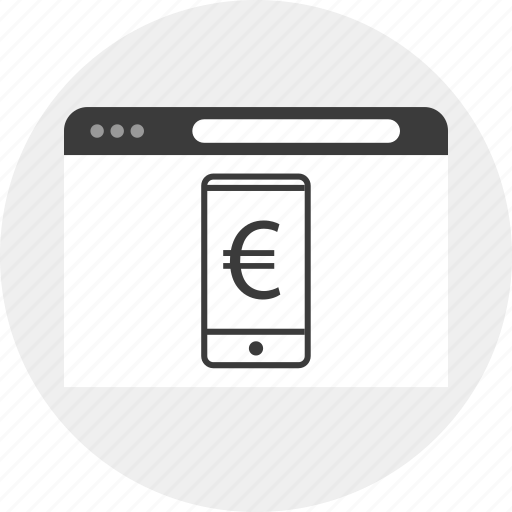 browser, business, currency, euro icon