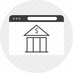 banking, building, business, city, law icon