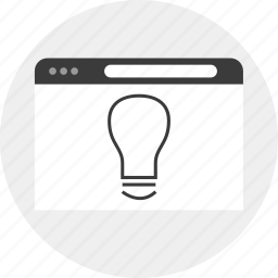 business, idea, lightbulb, website icon