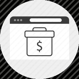 briefcase, business, internet, money icon
