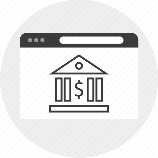 banking, business, online, web icon
