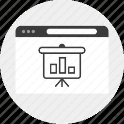 board, business, internet, results icon