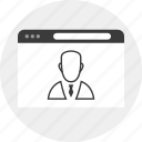 business, chat, online, person, staff icon
