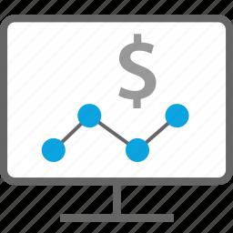 analytics, mac, pc, web icon