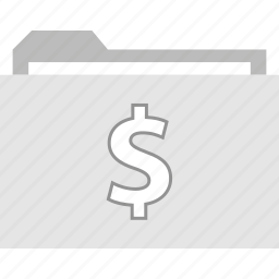 archive, dollar, file, folder icon