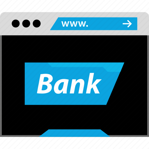 bank, banking, business, web icon