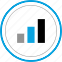data, graphic, high, up icon