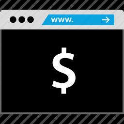 bank, banking, dollar, www icon