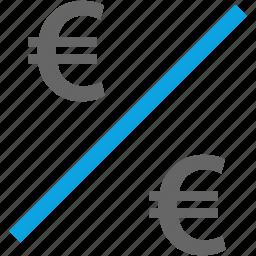 compare, divide, division, euro icon