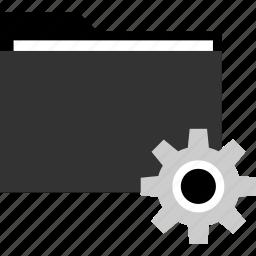 file, folder, gear, settings icon