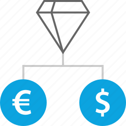 currency, money, reserves, transfer icon