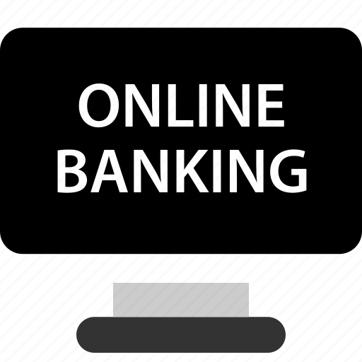 banker, banking, computer, online icon