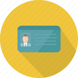 business, finance, id card, member card, people, technology icon