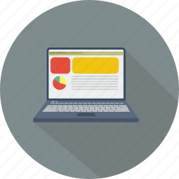 business, computer, design, digital, laptop, media, technology icon