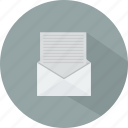business, digital, document, email, message, technology icon